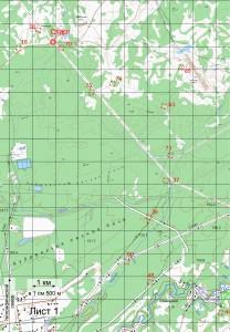 Карта кл. Б Лист 1