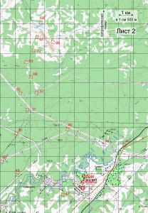 Карта кл. А Лист 2