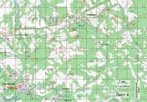 Карта кл. А Лист 4